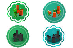 3d frog storage icon Royalty Free Stock Image