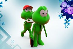 3d frog toy key  illustration Royalty Free Stock Photo