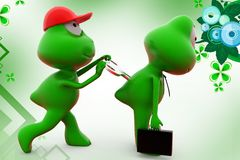 3d frog toy key  illustration Royalty Free Stock Photos