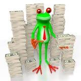 3D Frosch - Reichtumskonzept Stockbild