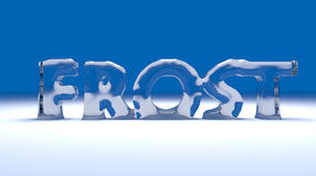 3D frost text Royalty Free Stock Images