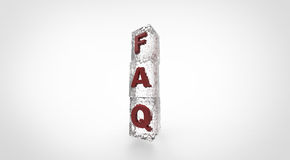 3D frosted FAQ cubes. Simple Royalty Free Stock Photo
