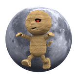 3d Full moon Egyptian mummy Royalty Free Stock Photography
