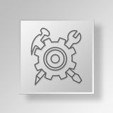 3D function Button Icon Concept Stock Image