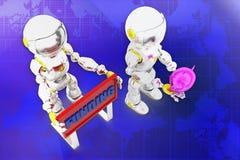 3d funding illustration Stock Photo