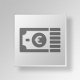 3D funds Button Icon Concept Stock Images