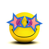 3d Funky smiley. 3d render of a smiley wearing funky glasses royalty free illustration