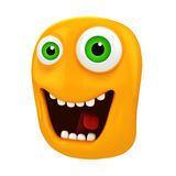 3d funny cartoon face Stock Images