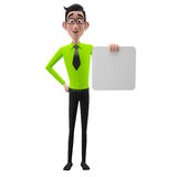 3d funny character, cartoon sympathetic looking business man Stock Images