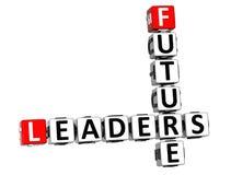 3D Future Leaders Crossword Stock Photo