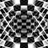 3d futurista abstrato cuba o fundo Fotografia de Stock