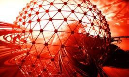 3D futuristic background Stock Image