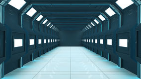 3D Futuristic corridor Royalty Free Stock Photos