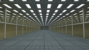 3D Futuristic corridor Stock Photos