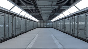 3d Futuristic corridor Royalty Free Stock Photography