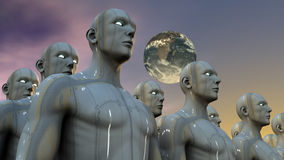 Humanoid figures Royalty Free Stock Images