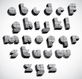 3d futuristic font made with boxes. Stock Photo