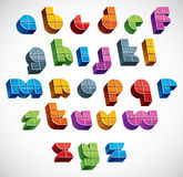 3d futuristic font made with boxes. Stock Photography