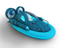 3d futuristic hover car Royalty Free Stock Photos