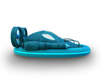 3d futuristic hover car Royalty Free Stock Image