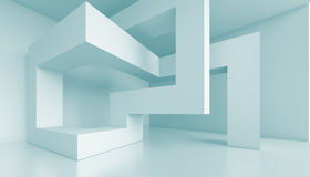 3d Futuristic Interior. 3d Abstract Futuristic Interior Background Royalty Free Stock Photo