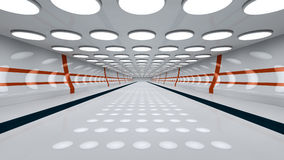 3d futuristic interior Royalty Free Stock Photos