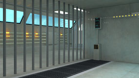 3d futuristic interior jail Royalty Free Stock Image