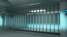 3d futuristic interior jail Royalty Free Stock Images