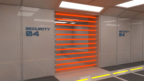 3d futuristic interior jail. 3d interior jail and penitentiary Royalty Free Stock Photos