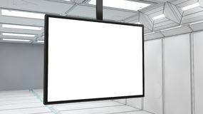 3d Futuristic screen Stock Image