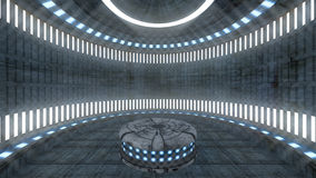 3D Futuristic set interior Stock Photo