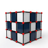 3d futuristic tech cube structure Royalty Free Stock Photos
