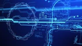 3d Futuristisch gebruikersinterface technologische achtergrond Stock Afbeeldingen