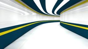 3d futuristische architectuur Stock Afbeelding