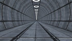3d futuristische architectuur Royalty-vrije Stock Afbeeldingen