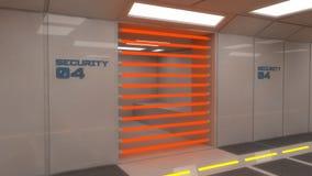 3d futuristische binnenlandse gevangenis Royalty-vrije Stock Foto's