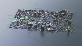 3D futuristische stadsarchitectuur stock video