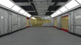 3d futurystyczna architektura Obraz Royalty Free