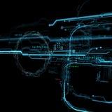 3d Futurystyczny interfejs użytkownika technologiczny tło Ochrony baza danych Obraz Royalty Free