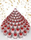 3D góra Bożenarodzeniowi prezenty w formie choinki ilustracji