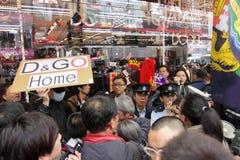 D&G Fotografii Zakazu Iskier Protest w Hong Kong Zdjęcia Stock