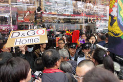 D&G Photo Ban Sparks Protest in Hong Kong Stock Photos