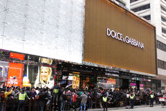 D&G Photo Ban Sparks Protest in Hong Kong Stock Image