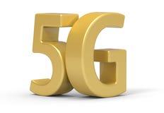 3d 5G, tecnologia de comunicação sem fio ilustração stock