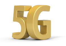 3d 5G, wireless communication technology. 5G is modelled and rendered stock illustration