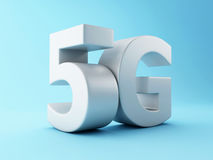 3d 5G wireless technology sign. 3d renderer image. 5G wireless technology sign. Mobile telecommunication concept royalty free illustration