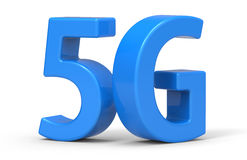 3d 5G. '5G' is modelled and rendered Royalty Free Stock Photos