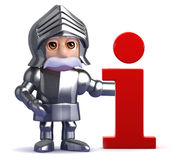 3d Gallant knight has information Royalty Free Stock Images