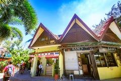 D-galleriasouvenir shoppar i Boracay, Aklan, Filippinerna Arkivbild