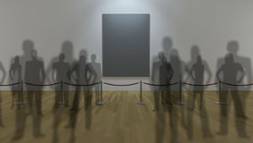 3d gallery display Royalty Free Stock Photos